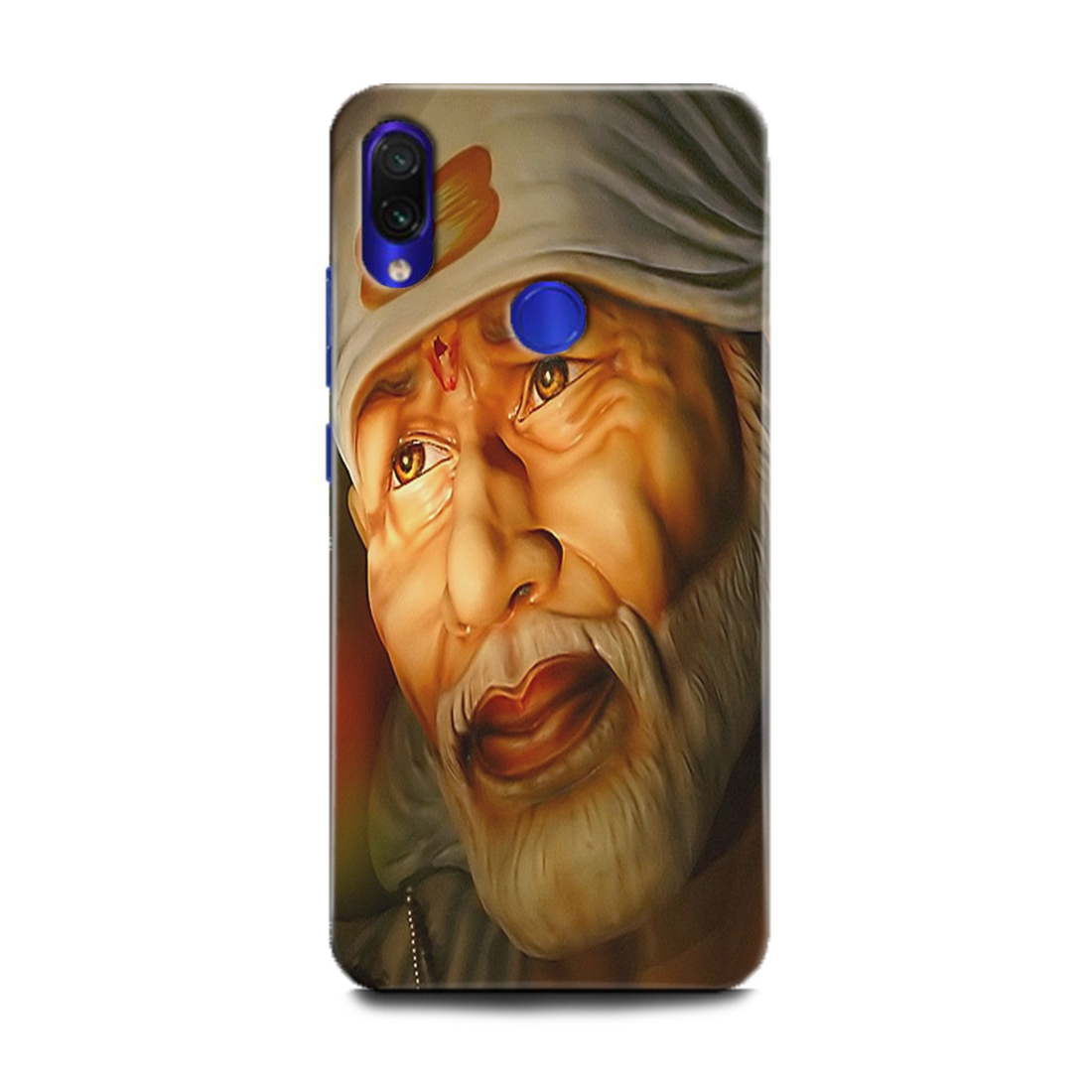 INDICRAFT Mobile Back Cover For Mi Redmi Note 7 Pro / Hard Case (Om Sai Baba, Om Sai, Om Sai Ram, Saibaba, God, MZB7464IN) (AB-Note7Pro-0247)