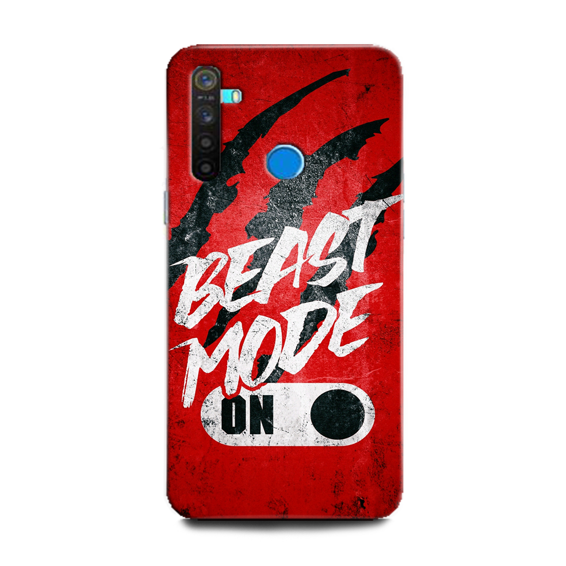 INDICRAFT Mobile Back Cover For Realme 5 Pro Hard Case (Motivational, Life Quotes, Beast Mode on, Motivation, Inspiration, Positive, RMX1971) (AB-Realme5Pro-0947)