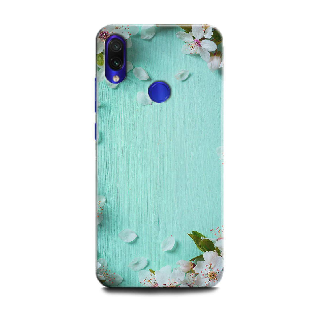 INDICRAFT Mobile Back Cover For Mi Redmi Note 7s / Hard Case (Flowers, White Flowers, Nature, MZB7742IN) (AB-RedmiNote7s-0314)