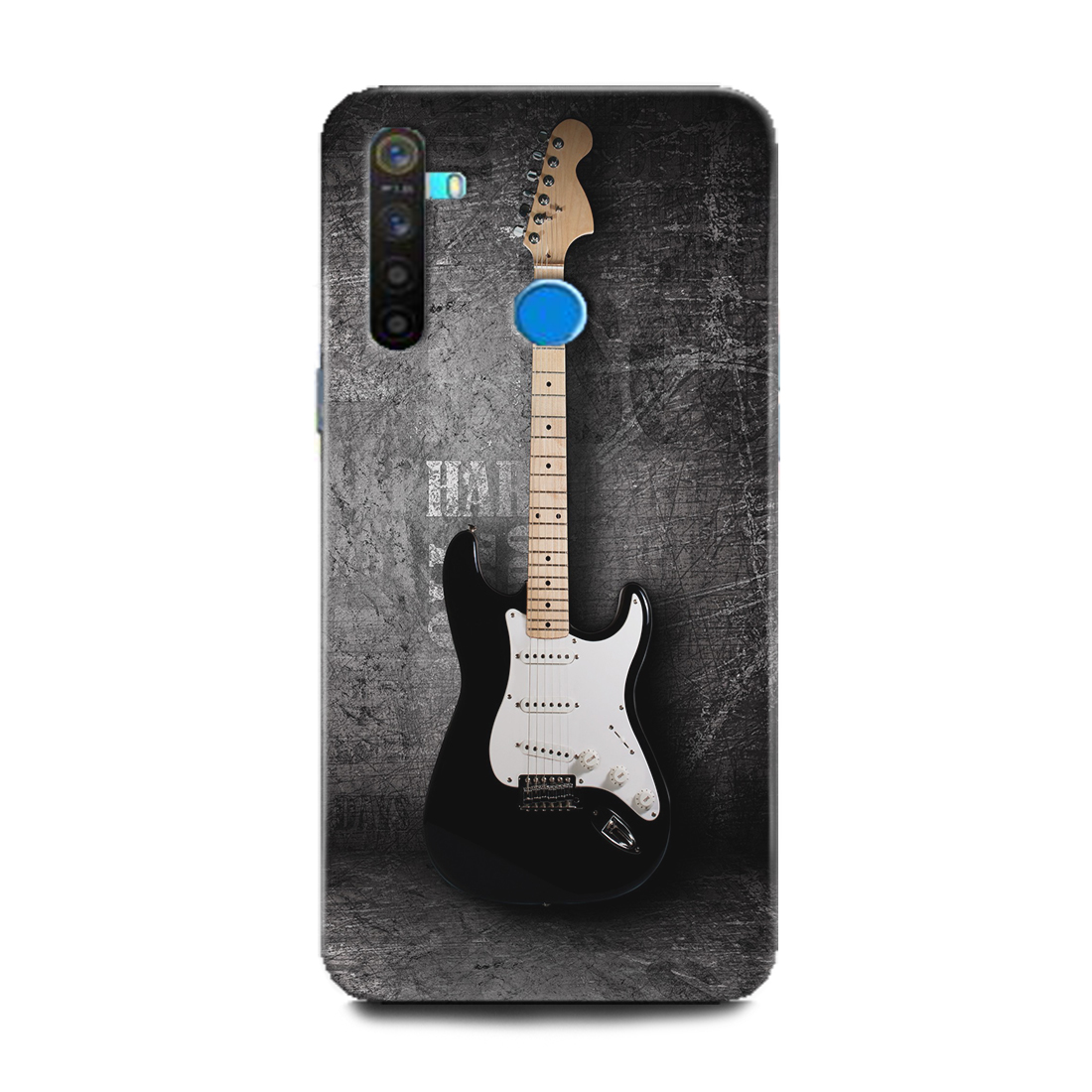INDICRAFT Mobile Back Cover For Realme 5i Hard Case (Guitar, Music, Music Instrument, Classic, RMX2030) (AB-Realme5i-0340)