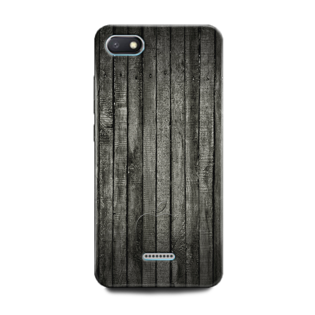 INDICRAFT Mobile Back Cover For Mi Redmi 6A(Wood, Broune Wooden, Texture, Pattern, Black) (AB-Redmi6A-0493)