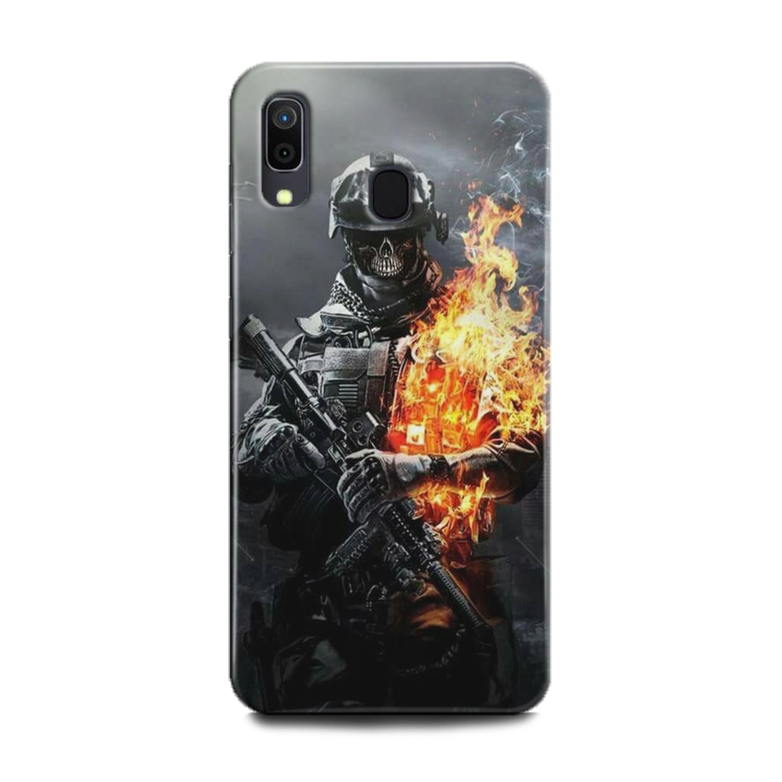 INDICRAFT Mobile Back Cover For Samsung Galaxy A20 Hard Case (Army, Military, Soldier, Counter Strick, Game, IGI, Battlefield, Call of Duty, A20) (AB-GalaxyA20-0696)