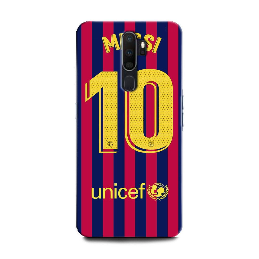 INDICRAFT Mobile Back Cover For Oppo A9 2020 / CPH1937 Hard Case (Messi, Lione Messi, Football, Messi 10, Barcelona, Lione Messi Jersey, Sports) (AB-OppoA92020-0195)