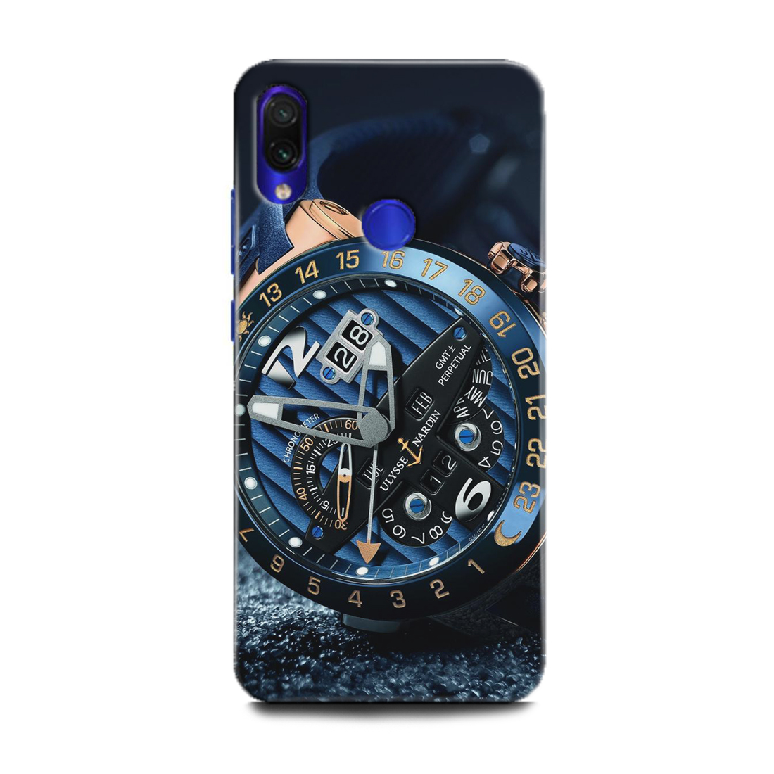 INDICRAFT Mobile Back Cover For Mi Redmi Y3 / Hard Case (Watch, Clock, Time, Blue Luxury Watch, Classic, M1810F6I) (AB-RedmiY3-0263)