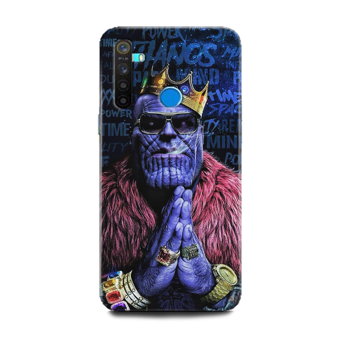 INDICRAFT Mobile Back Cover For Realme 5 Hard Case (Thanos, Funny Thanos, Marvel, Comic, Avenger, Avangers end Game, RMX1911) (AB-Realme5-0056)