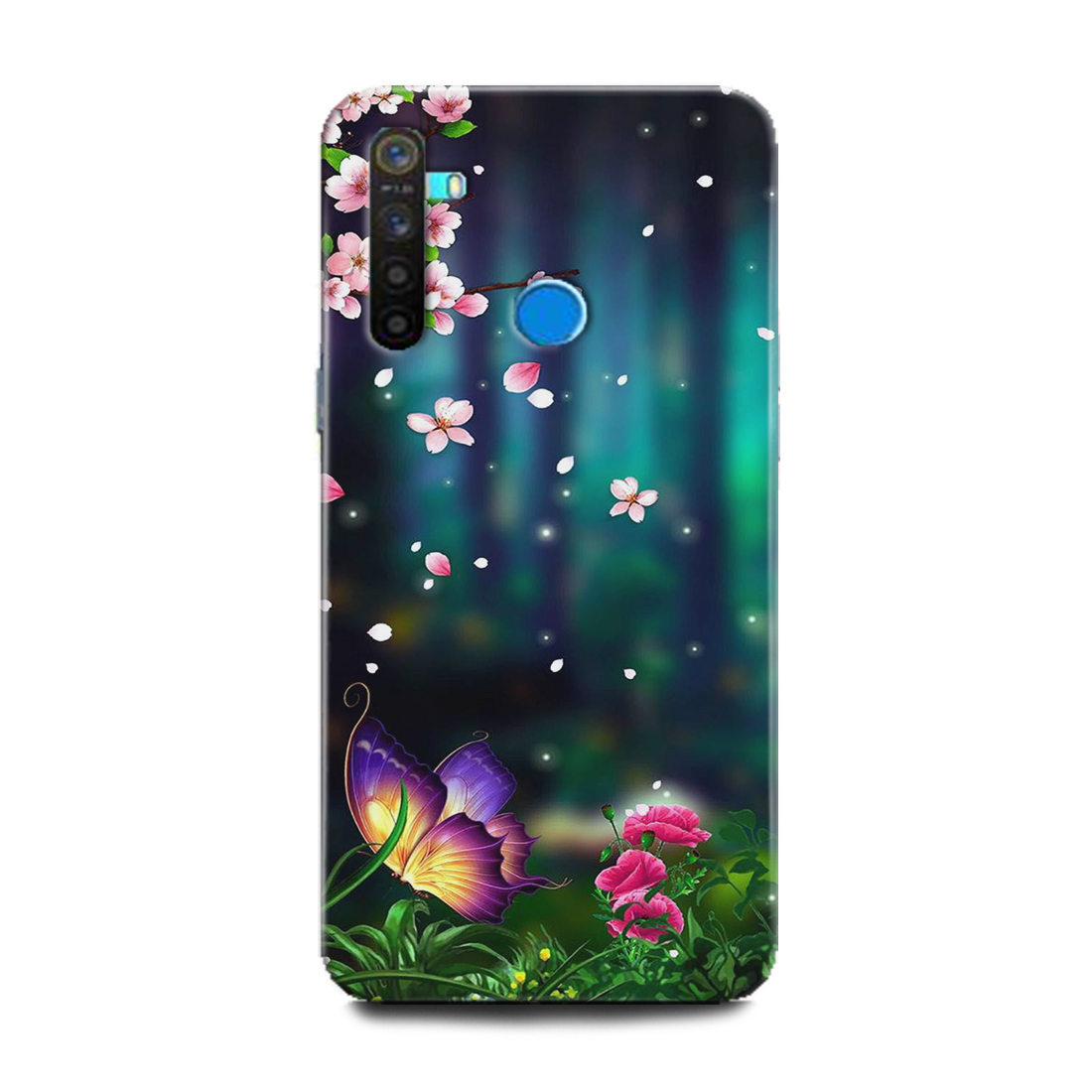 INDICRAFT Mobile Back Cover For Realme 5 Pro Hard Case (Flowers, Mandala, Colorful, Abstract Art, Texture, Ornaments, Painting, Nature, RMX1971) (AB-Realme5Pro-0658)