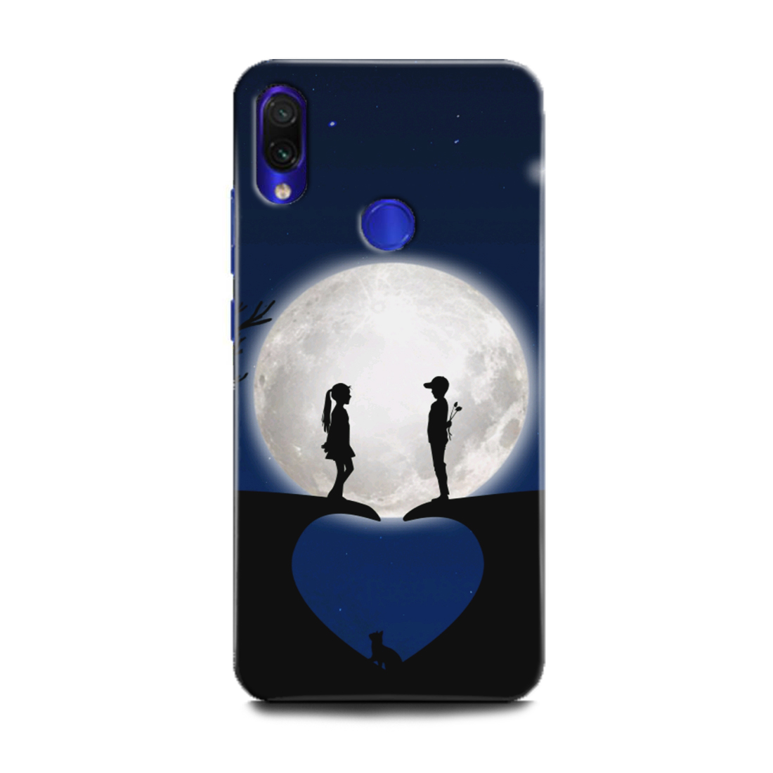 INDICRAFT Mobile Back Cover For Mi Redmi Note 7 / Hard Case (Love, Amor, Anime, Sweet Couple, Girl, Boy, Together, Heart, Red, Moon, Nature, MZB7266IN) (AB-RedmiNote7-0853)