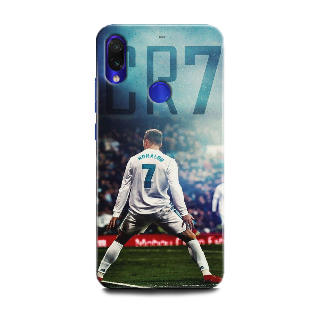 INDICRAFT Mobile Back Cover For Mi Redmi Note 7 Pro / Hard Case (Cristiano Ronaldo, Ronaldo 7, CR-7, Real Madrid, Football, Ronaldo Celebration, Sports, MZB7464IN) (AB-Note7Pro-0143)