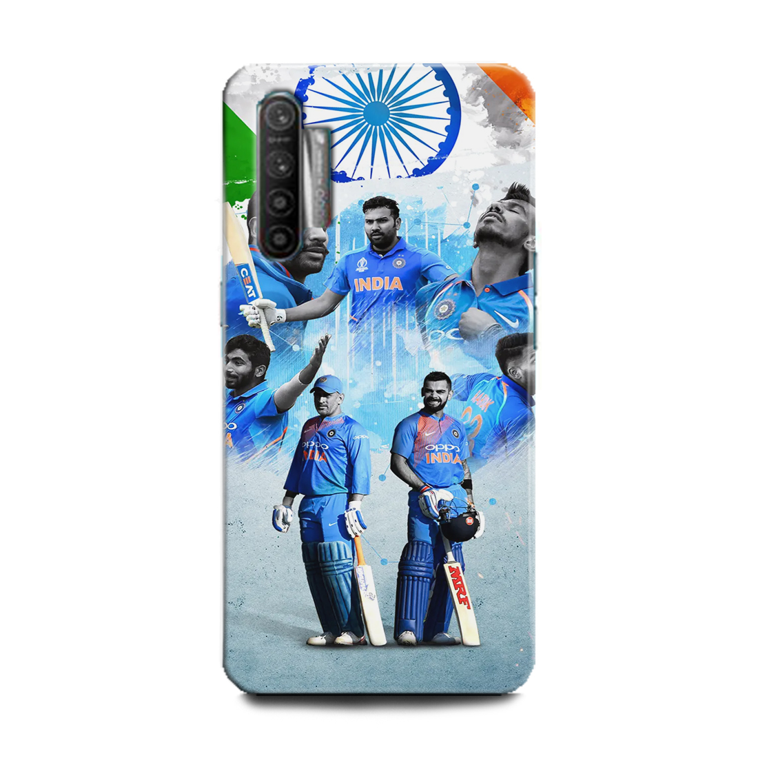 INDICRAFT Mobile Back Cover For Realme XT Hard Case (Crickete, India, Jersey, Dhoni, Virat Kohli, Rohit Sharma, Shikhar dhawan, Chahal, Hardik pandya Indian Team, Player, Sports, RMX1921) (AB-RealmeXT-0753)