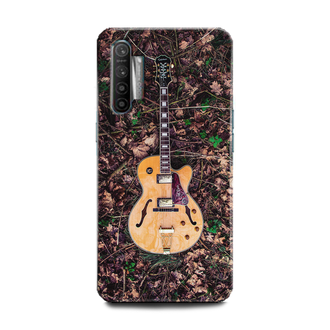 INDICRAFT Mobile Back Cover For Realme X2 Hard Case (Guitar, Music, Music Instrument, Wooden Guitar, RMX1992) (AB-RealmeX2-0718)