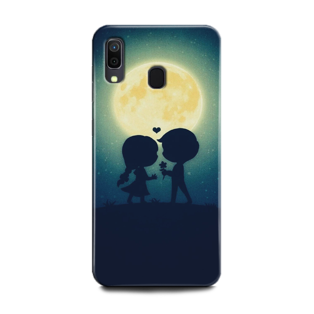 INDICRAFT Mobile Back Cover For Samsung Galaxy A30 Hard Case (Love, Hart, Landscapes, Moon, Boy, Girl, Sky, Together, A30) (AB-GalaxyA30-0562)
