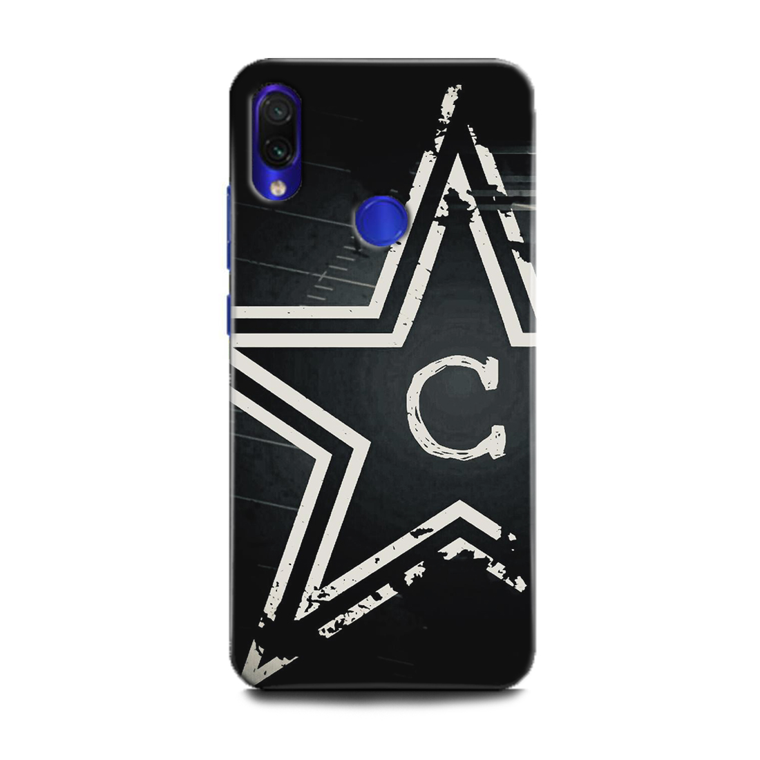 INDICRAFT Mobile Back Cover For Mi Redmi Y3 / Hard Case (C, C Letter, Star, Black, White, C Name, C Alphabet, Design, M1810F6I) (AB-RedmiY3-0362)