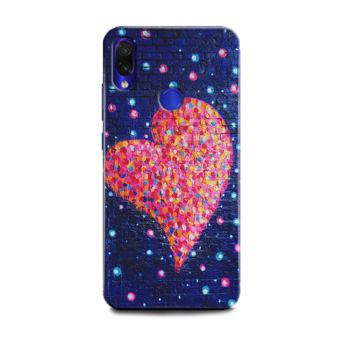 INDICRAFT Mobile Back Cover For Mi Redmi Note 7 / Hard Case (Heart, Love, Red Heart, Abstract Art, Red Rose, Texture, Glitter, Unicorn, Galaxy, Texture, MZB7266IN) (AB-RedmiNote7-0710)