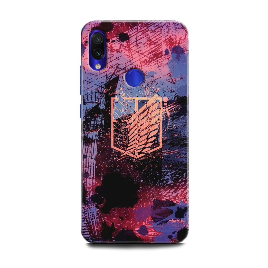 INDICRAFT Mobile Back Cover For Mi Redmi Y3 / Hard Case (Anime, Aot, Art, Texture, Abstract, Colorful, Wall, M1810F6I) (AB-RedmiY3-0921)