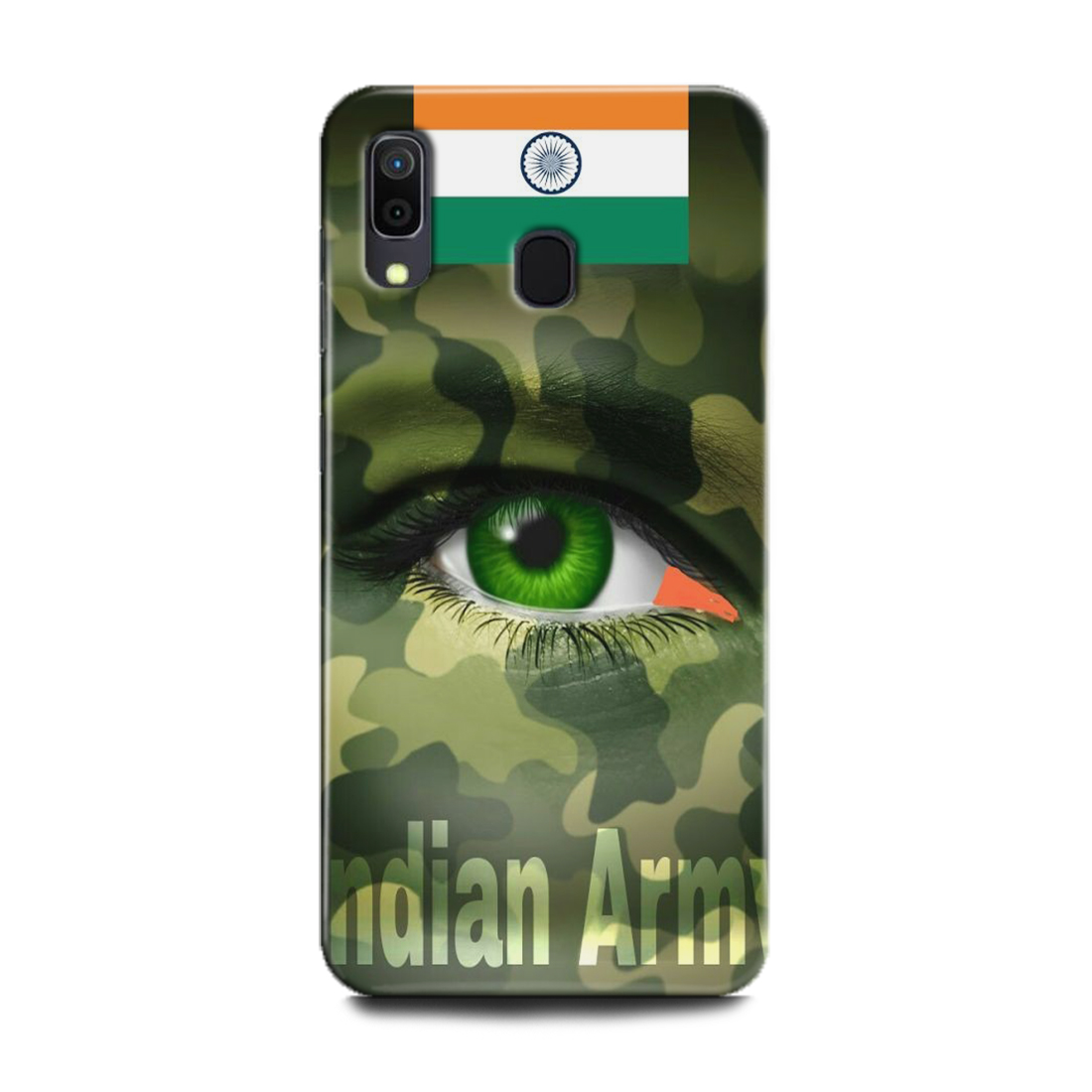 INDICRAFT Mobile Back Cover For Samsung Galaxy A20 Hard Case (Army, Txture, Army Uniform, Military, Como, Comoflage, Army Dress Code, A20) (AB-GalaxyA20-0910)