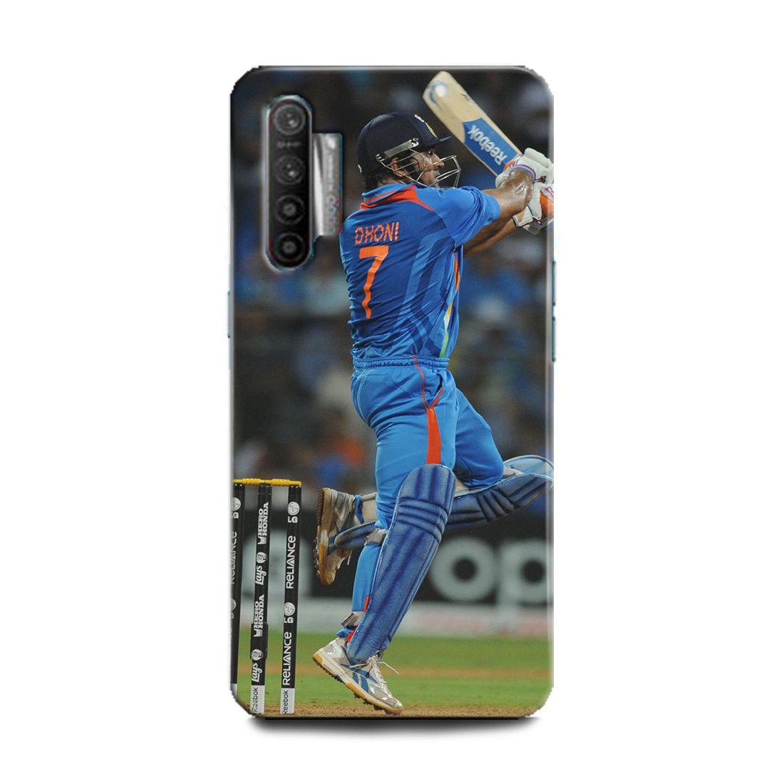 INDICRAFT Mobile Back Cover For Realme X2 Hard Case (MS Dhoni 7, Mahendra Singh Dhoni, India, Cricket, Indian Cricket Captain, Captain Cool, Sports, RMX1992) (AB-RealmeX2-0162)