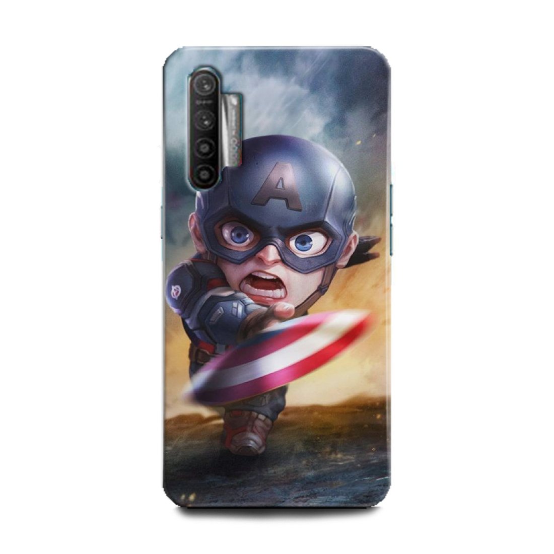 INDICRAFT Mobile Back Cover For Realme X2 Hard Case (Captain America, The First Avenger, Shield, Comics, Marvel, RMX1992) (AB-RealmeX2-0030)