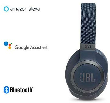 JBL Live 650BTNC Wireless Over-Ear Noise-Cancelling Headphones with Alexa