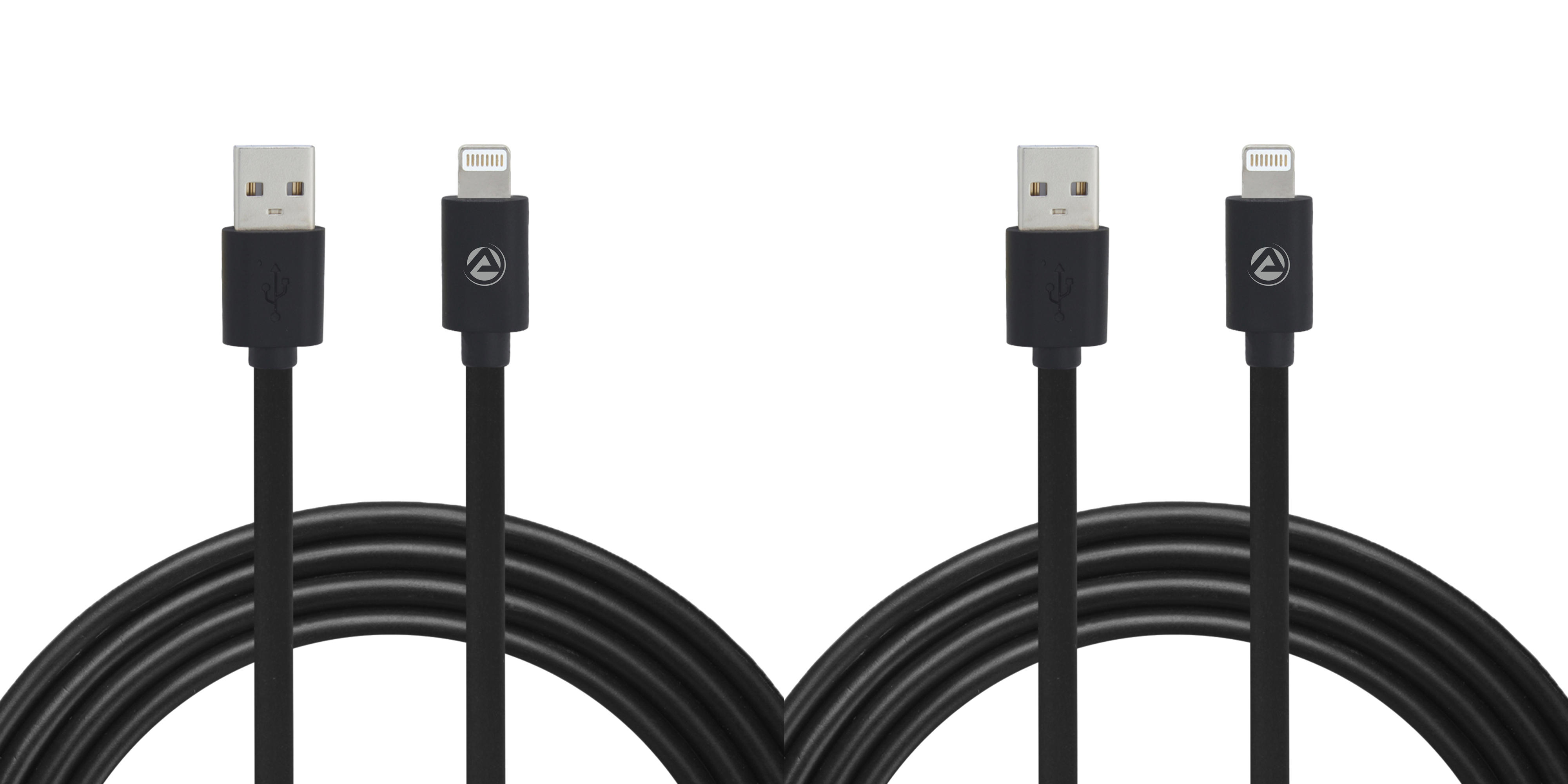 ARU ARI-11 1Mtr, 2.4 Amp PVC Lightening Charge & Sync Cable Pack of 2