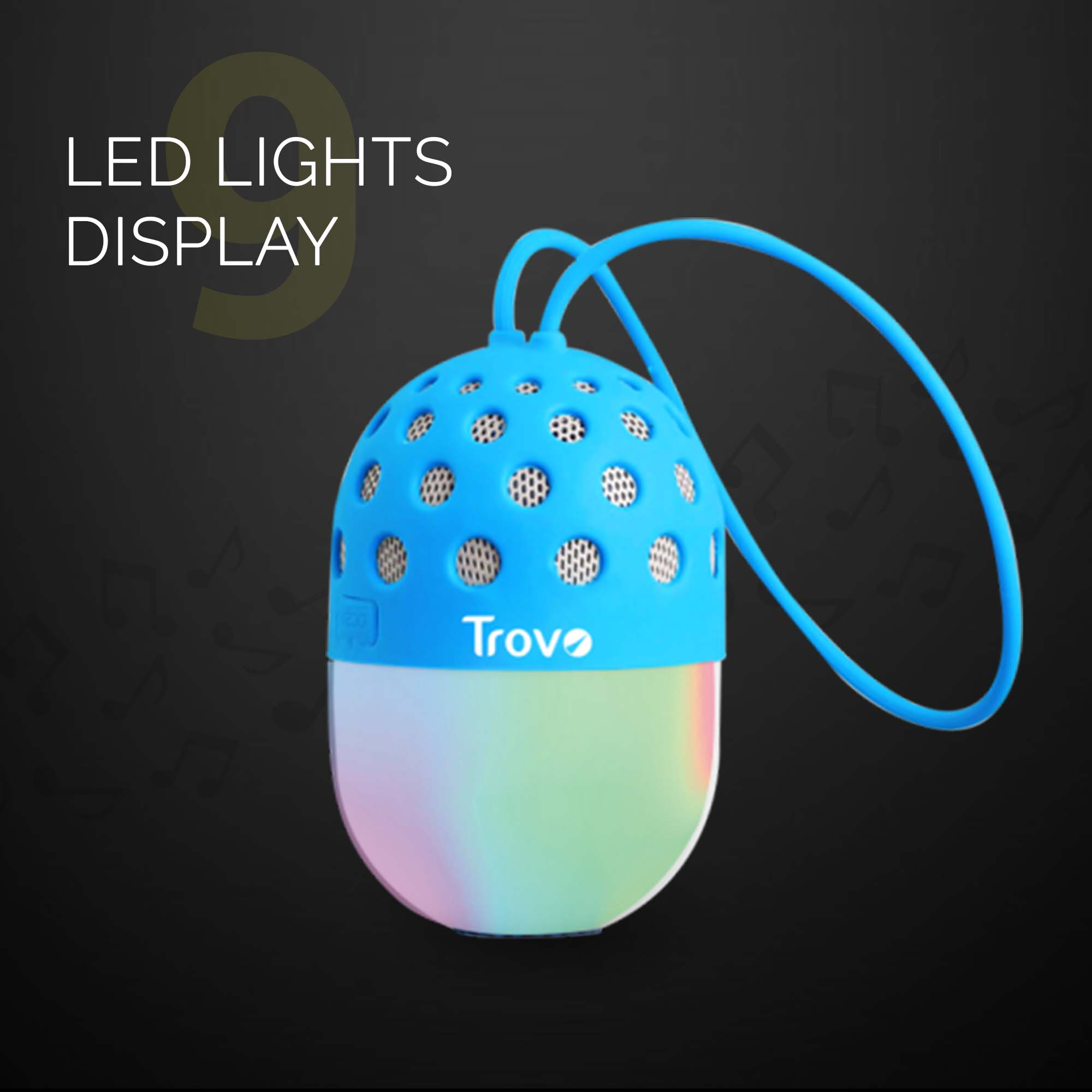 Trovo Bloom TBS-54 Bluetooth Speaker With LED Light - Blue