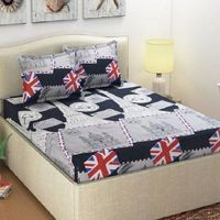 Panipat Textile Hub 3D Double Bedsheet (3D-LONDON)