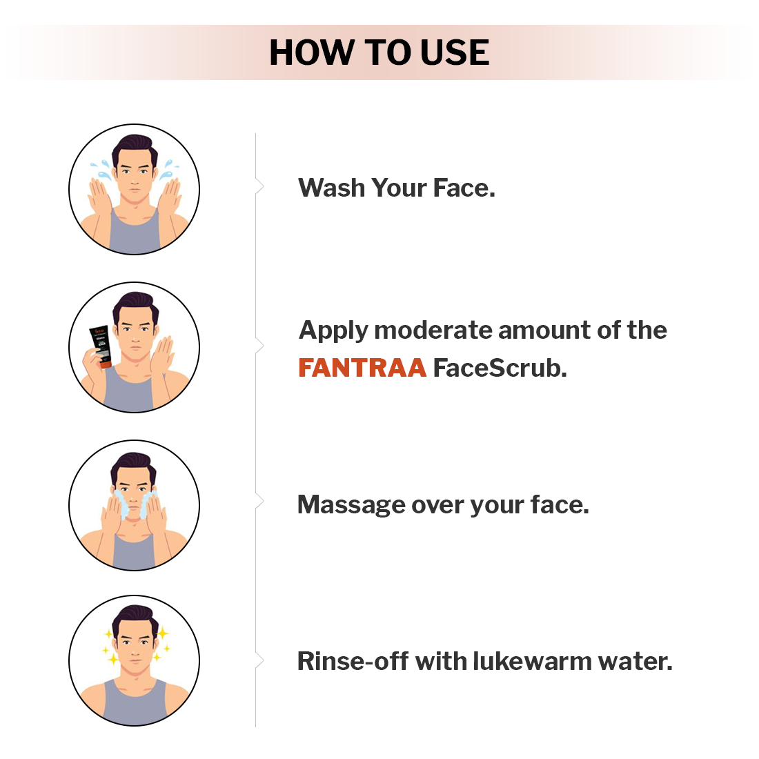 Fantraa Activated Charcoal Face Scrub (Pack of 2)