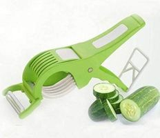 Magikware Plastic Vegetable Cutter & Slicer, Red (Assorted Colors)