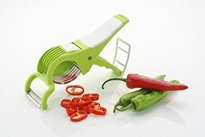 Magikware Plastic Vegetable Cutter & Slicer, Green (Assorted Colors)