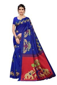 Anni Designer Blue Khadi Saree With Blouse