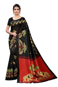 Anni Designer Black Khadi Saree With Blouse