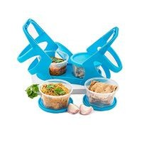 Plastic Lunch Box/Tiffin Box with Attractive Stand Food Containers (Set of 4)