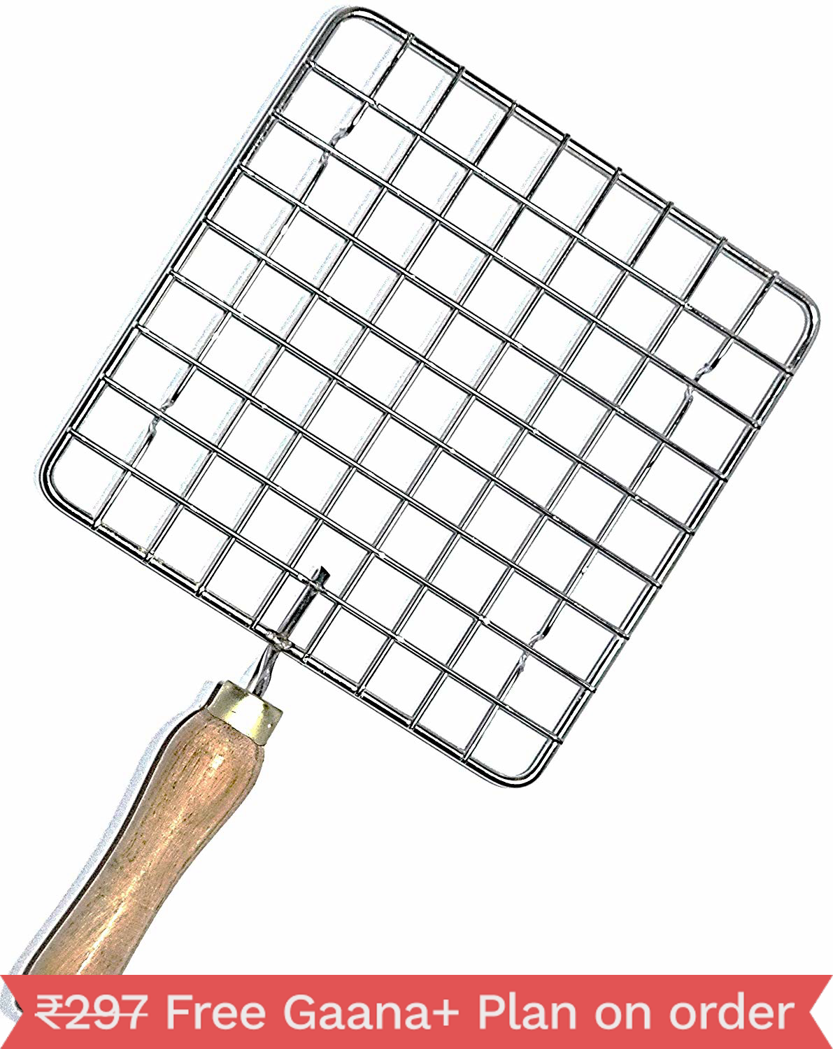 Barbeque Jali Roti Roast Grill Papad Roaster Chapati Toast Grill Wooden Handle paneer tandoor net