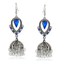 Mahi Blue Alloy Jhumki For Women