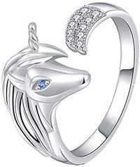 Mahi White Alloy Ring For Women