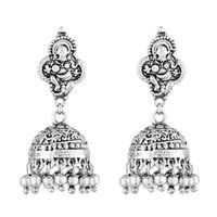 Mahi Silver Alloy Jhumki For Women