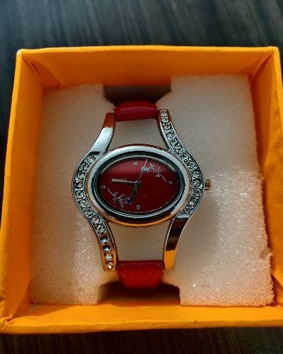 Red elegant watch