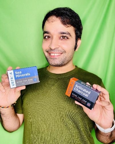 Ustraa Product Review - Activated charcoal & Sea Minerals men soap