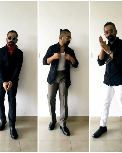 Styling Black Shirt in different ways