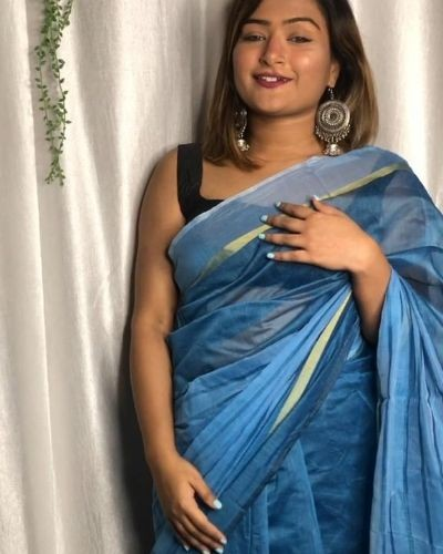 Blue Simple Saree