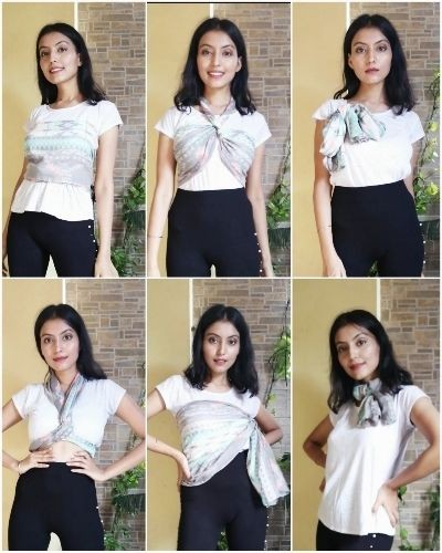I have styled a Scarf in 6 different ways. Hope you will like it.