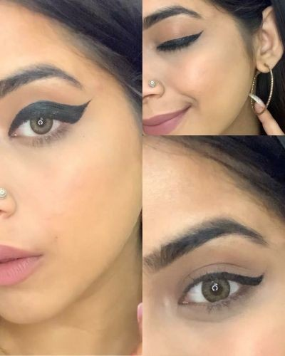 HOW TO ACHIEVE WINGED EYELINER LOOK