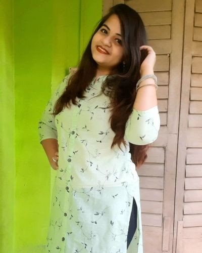 Green and Black Floral Kurti for Everyday Wear