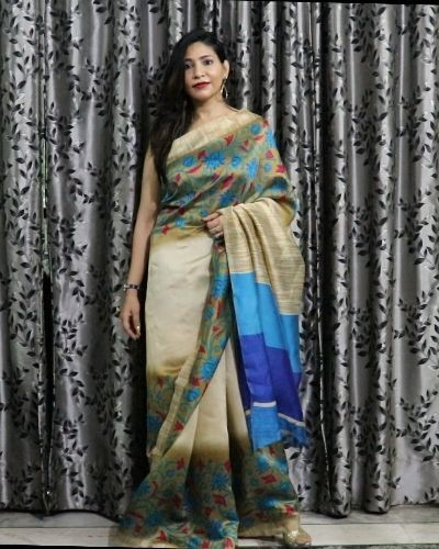 Saree with Beautiful Borders