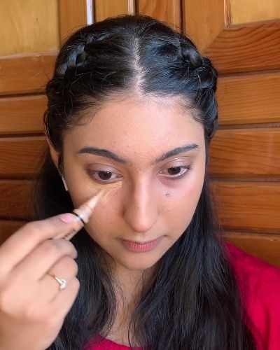 Correct way of applying concealer to stop it from creasing