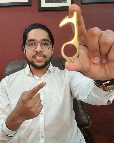 Touchless Brass Key - Stay Safe and prevent Corona