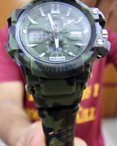 Multicolored Analog Watch