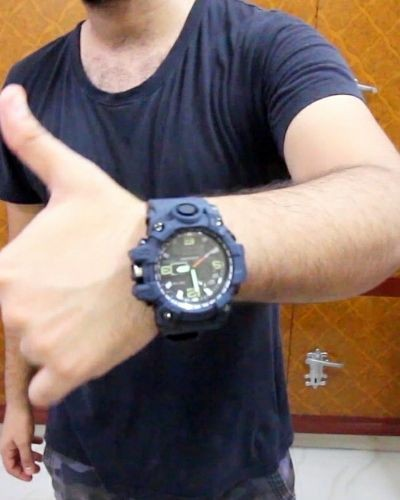 Sporty Blue Watch for Men