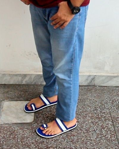 Casual Blue Slippers