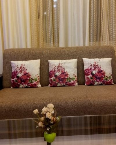 Rose designed cushion covers set