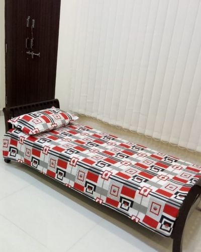 Cotton single bedsheet with pillow cover